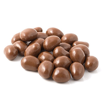 Peanut covered in milk chocolate