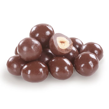 Hazelnut covered in milk chocolate