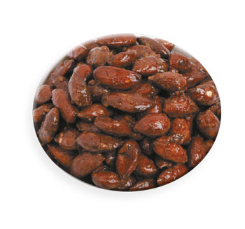 Caramelized whole nuts